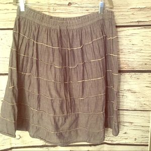 Studio Apparel Peasant Skirt. Chambray. XL